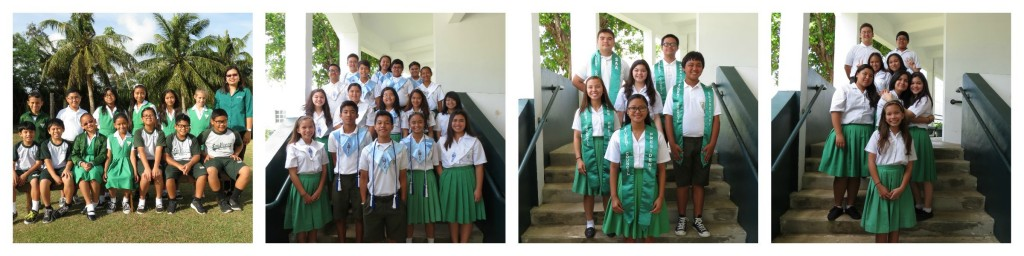 L/R:  Math Olympiad, NJHS, Student Council, & Blue Angels
